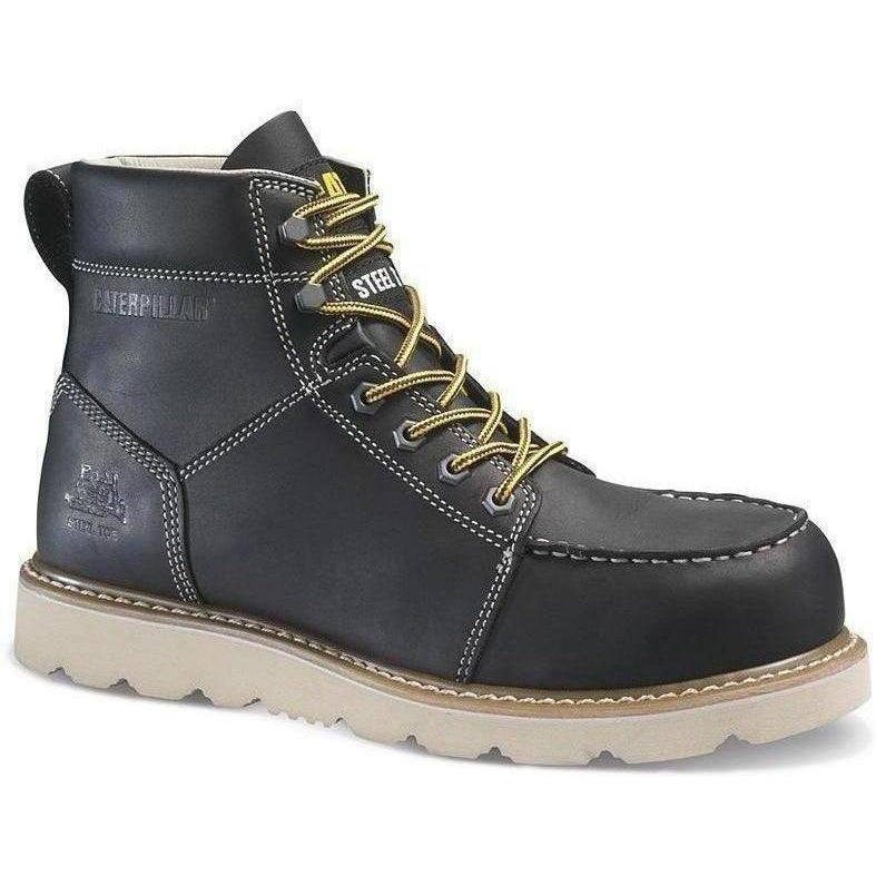 "CAT Men's Tradesman 6"" Steel Toe Work Boot - Black - P90940  - Overlook Boots"