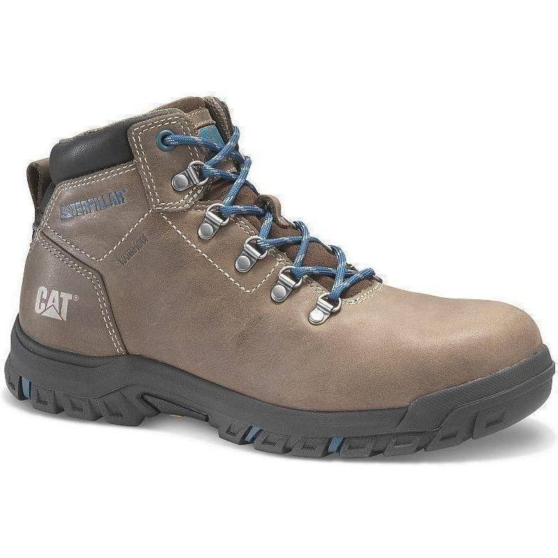 CAT Womens Mae Steel Toe Waterproof Work Shoe - Brown - P91012  - Overlook Boots