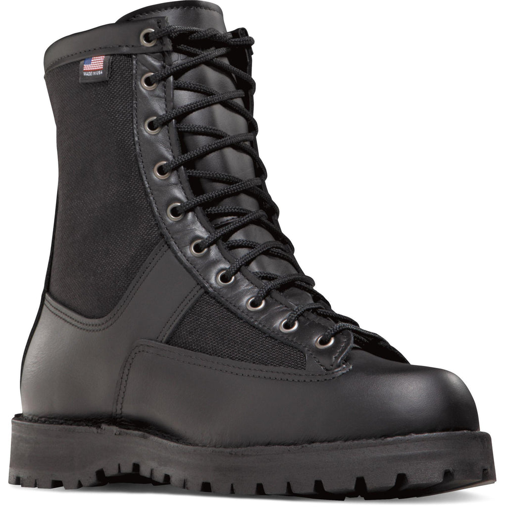 "Danner Men's Acadia USA Made 8"" Comp Toe WP Duty Boot - Black - 22500 7 / Medium / Black - Overlook Boots"