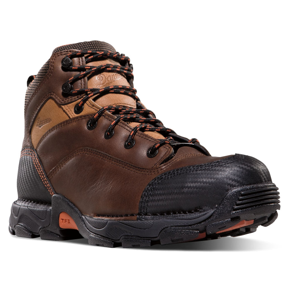 Danner Men's Corvallis Comp Toe WP Work Boot - Brown - 17602 7 / Medium / Brown - Overlook Boots