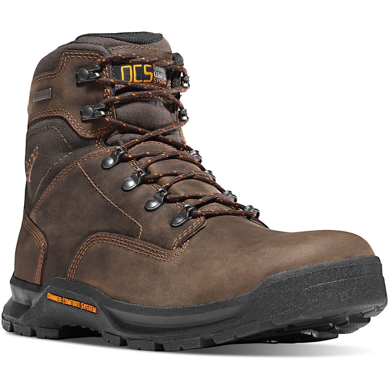 "Danner Men's Crafter 6"" Soft Toe WP Work Boot - Brown - 12433 7 / Medium / Brown - Overlook Boots"