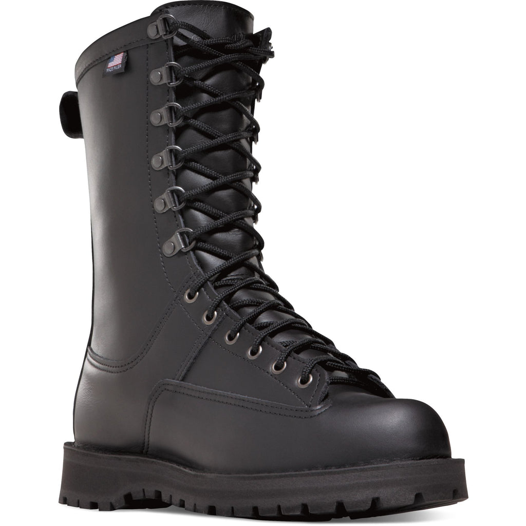 "Danner Men's Fort Lewis USA Made 10"" Ins WP Duty Boot - Black - 69110 7 / Medium / Black - Overlook Boots"