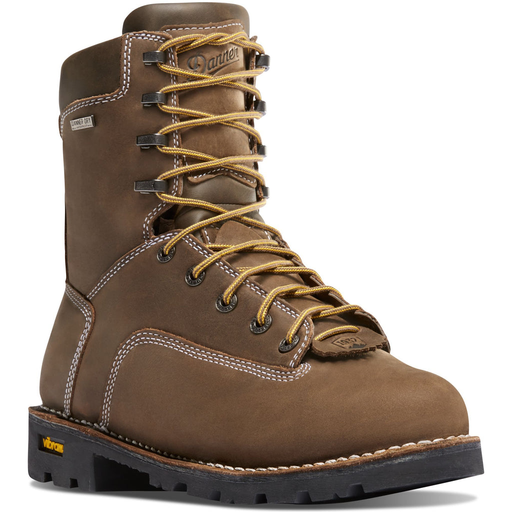 "Danner Men's Gritstone 8"" Alloy Toe WP Work Boot - Brown - 14226 7 / Medium / Brown - Overlook Boots"