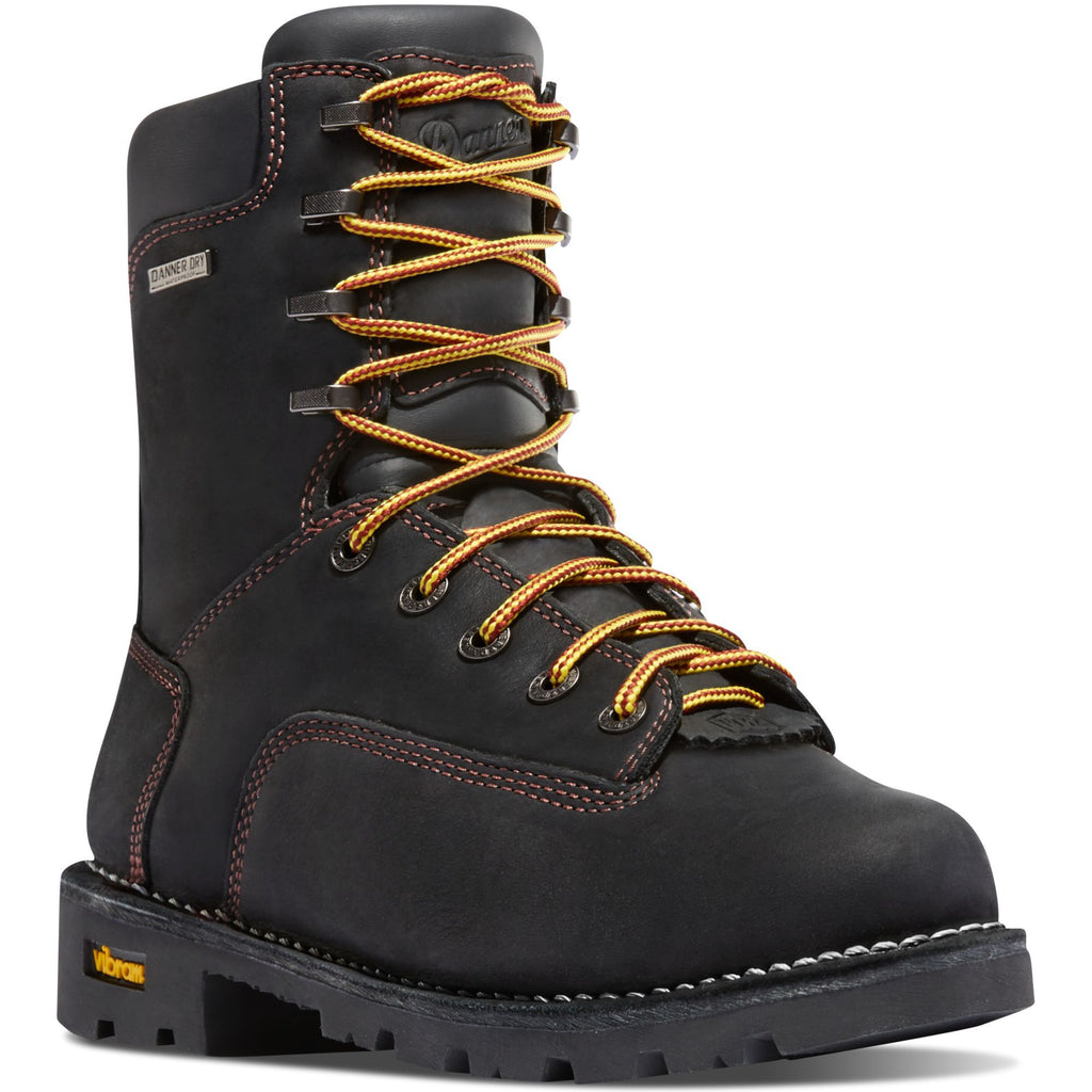 "Danner Men's Gritstone 8"" Soft Toe WP Work Boot - Black - 14220 7 / Medium / Black - Overlook Boots"