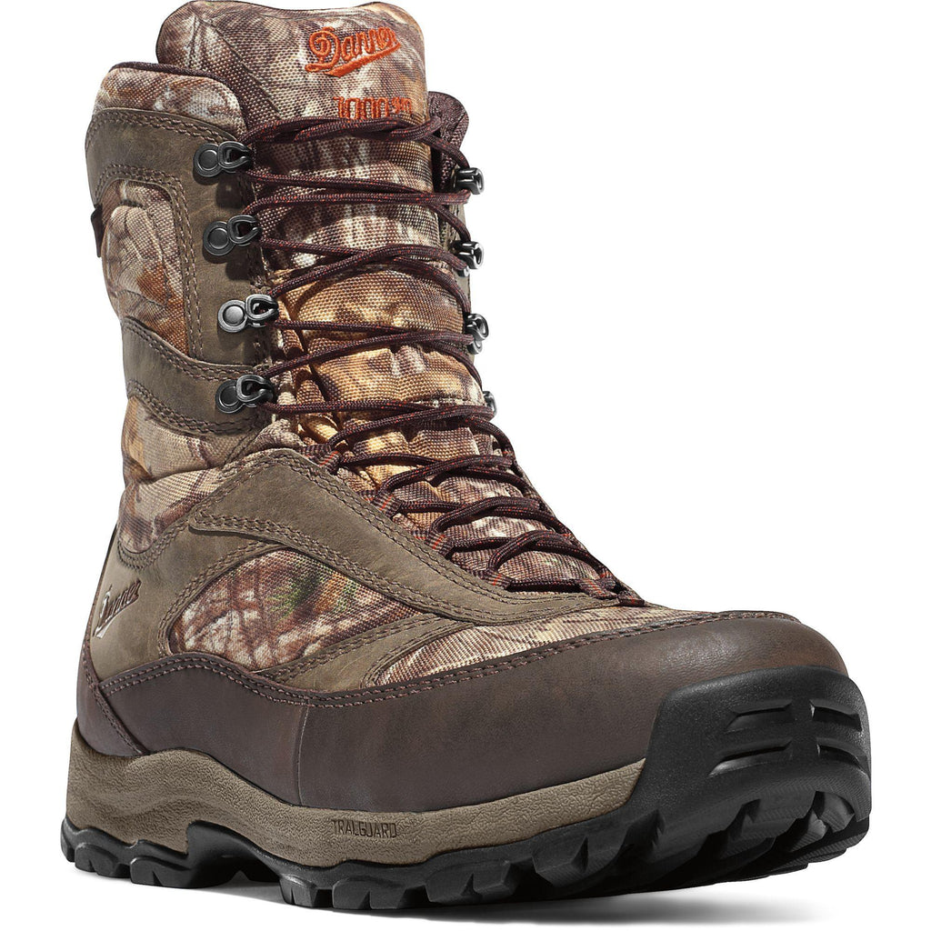 "Danner Men's High Ground 8"" Insulated WP Hunt Boot Realtree Xtra 46228 7 / Medium / Realtree Xtra - Overlook Boots"