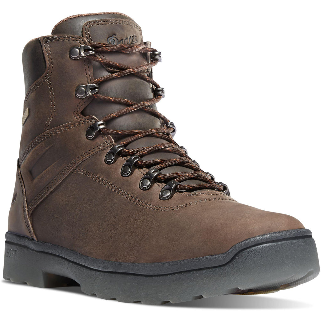 "Danner Men's Ironsoft 6"" Soft Toe WP Work Boot - Brown - 14731 7 / Medium / Brown - Overlook Boots"