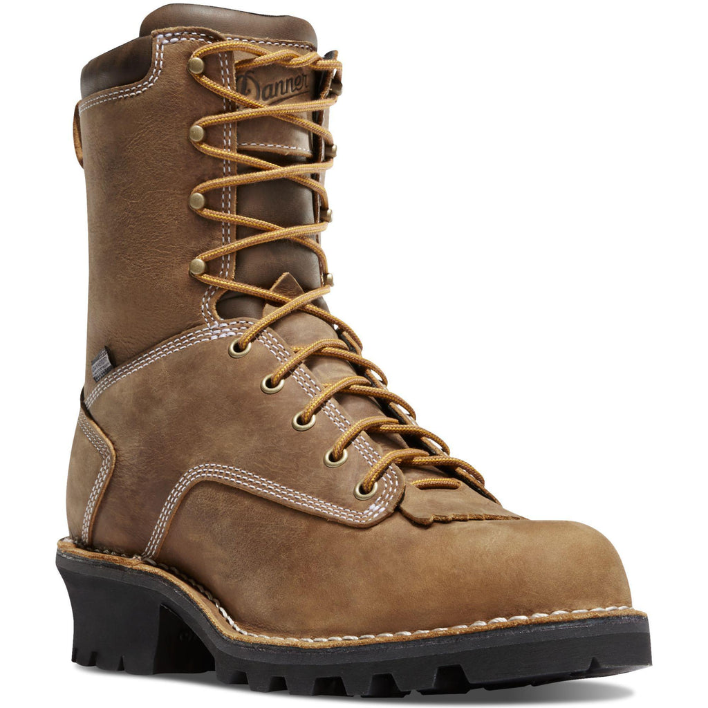 Danner Men's Logger Soft Toe Insulated WP Work Boot - Brown - 15435 7 / Medium / Brown - Overlook Boots