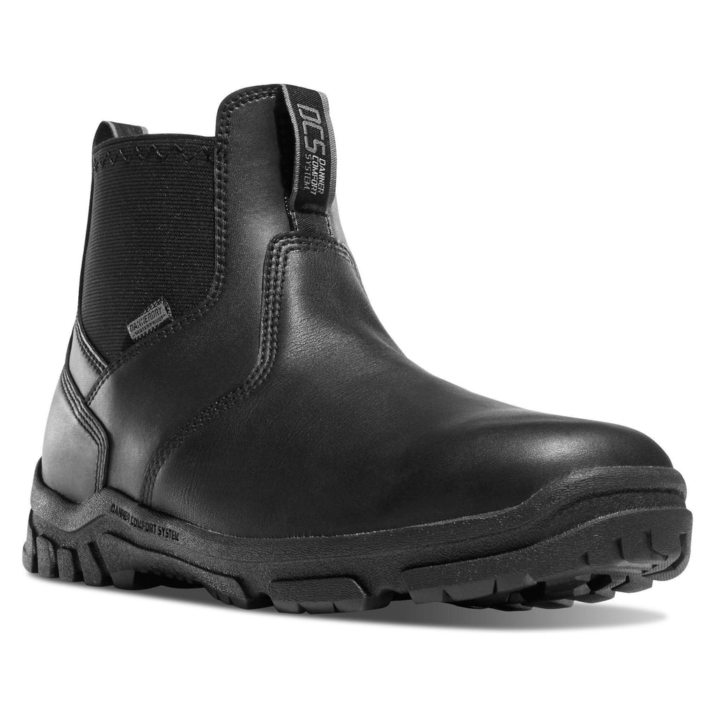 "Danner Men's Lookout 5.5"" Comp Toe WP Romeo Duty Shoe - Black - 23829 8 / Medium / Black - Overlook Boots"