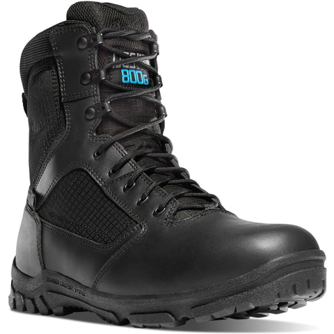 "Danner Men's Lookout 8"" Insulated Waterproof Duty Boot - Black - 23827 7 / Medium / Black - Overlook Boots"