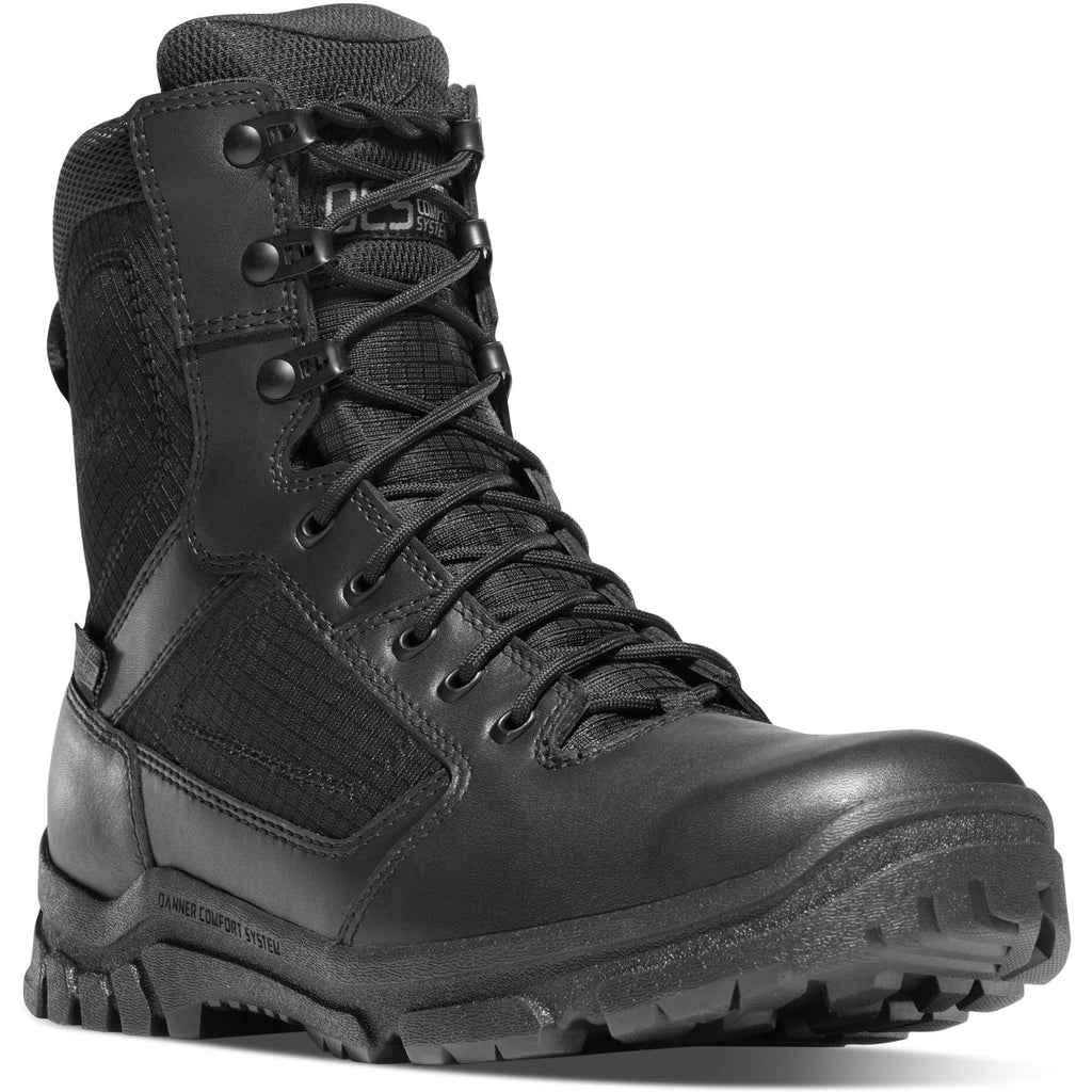 "Danner Men's Lookout 8"" Waterproof Duty Boot - Black - 23822 7 / Medium / Black - Overlook Boots"