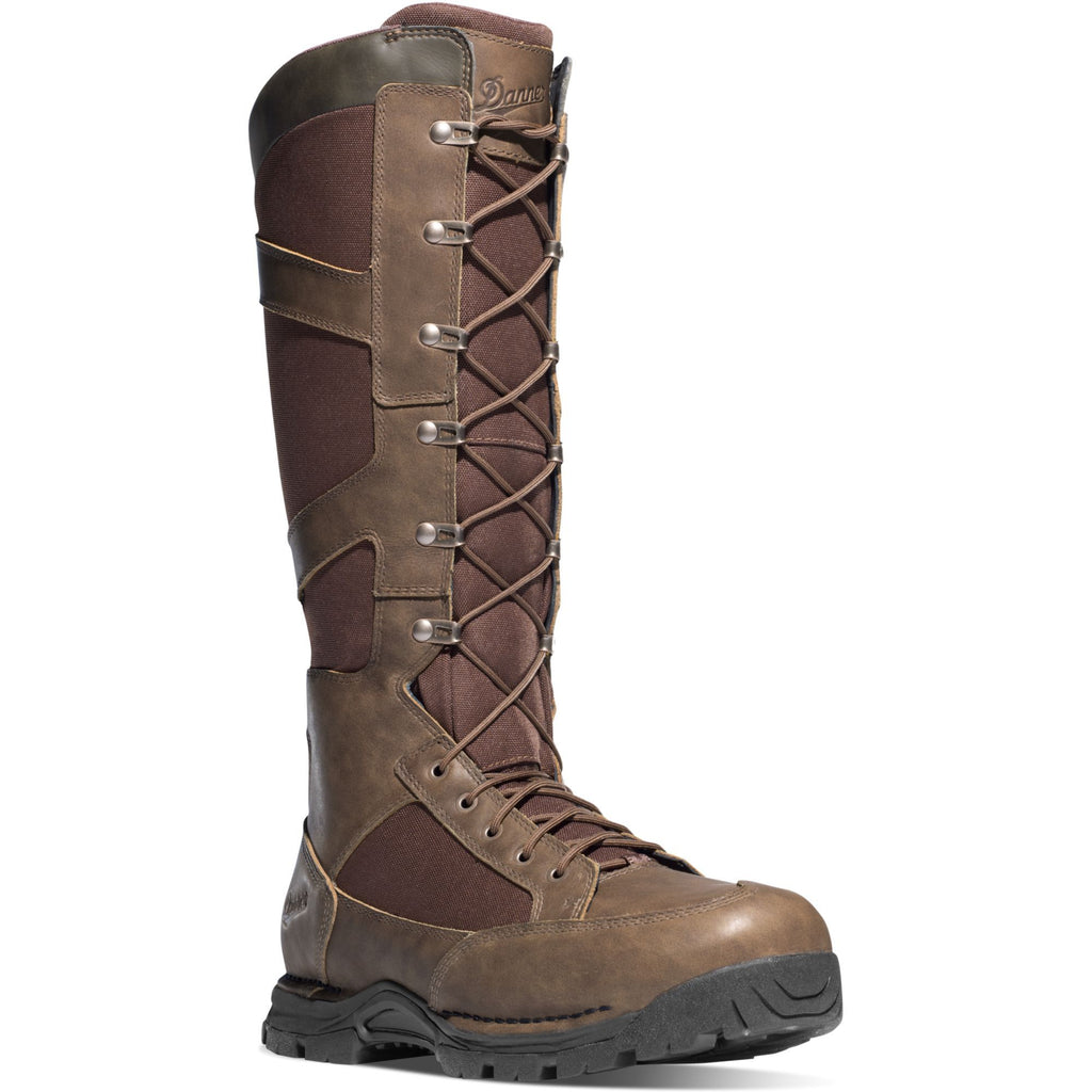 "Danner Men's Pronghorn 17"" Side Zip WP Snake Hunt Boot - Brown - 45033 7 / Medium / Brown - Overlook Boots"
