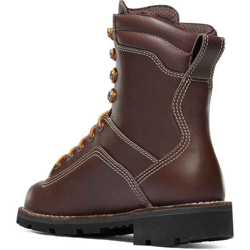 "Danner Men's Quarry USA Made 8"" Soft Toe WP Work Boot - Brown - 17305  - Overlook Boots"