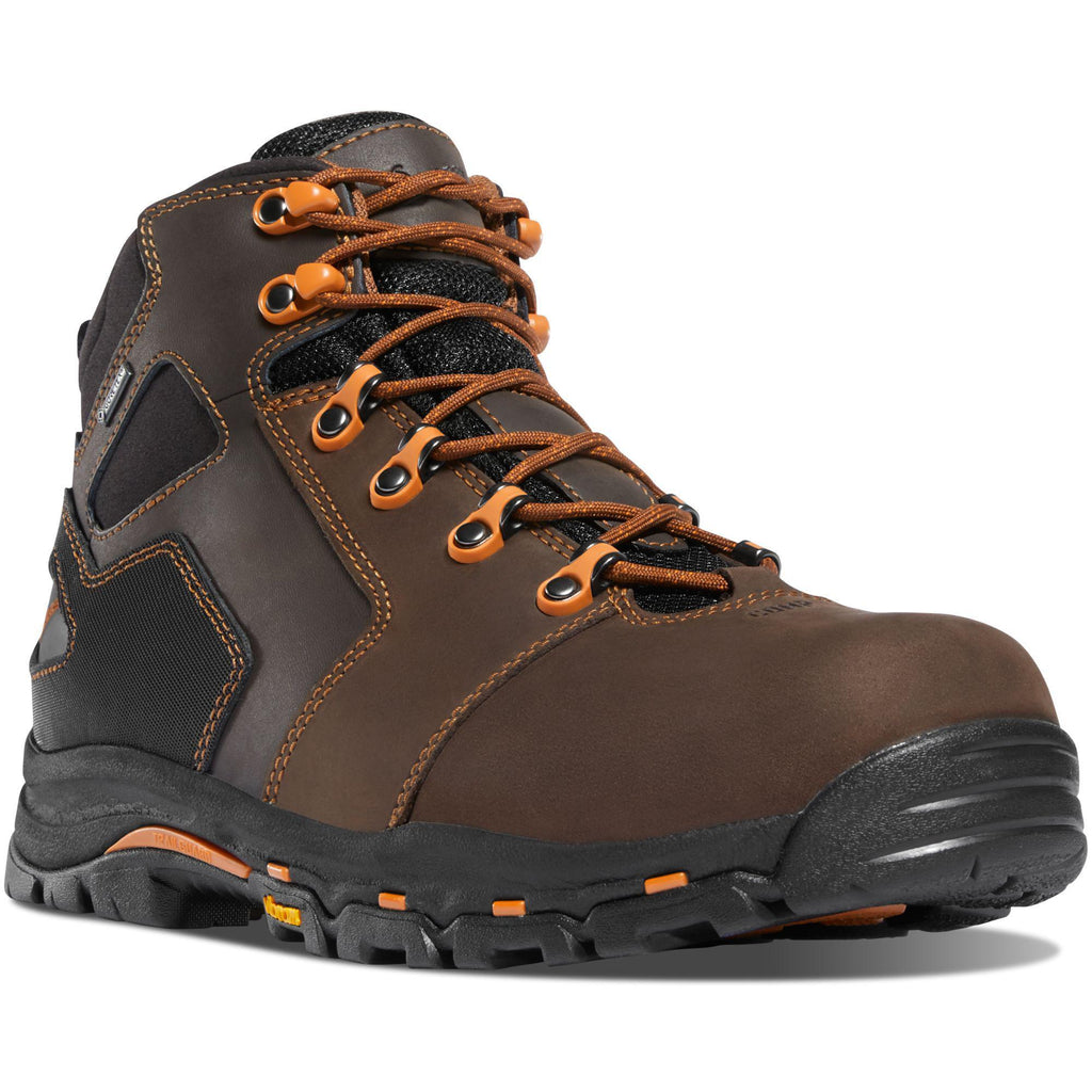 "Danner Men's Vicious 4.5"" Comp Toe WP Work Boot - Brown - 13860 7 / Medium / Brown - Overlook Boots"