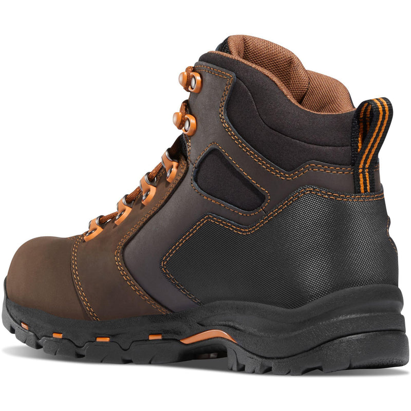 "Danner Men's Vicious 4.5"" Soft Toe WP Work Boot - Brown - 13858  - Overlook Boots"