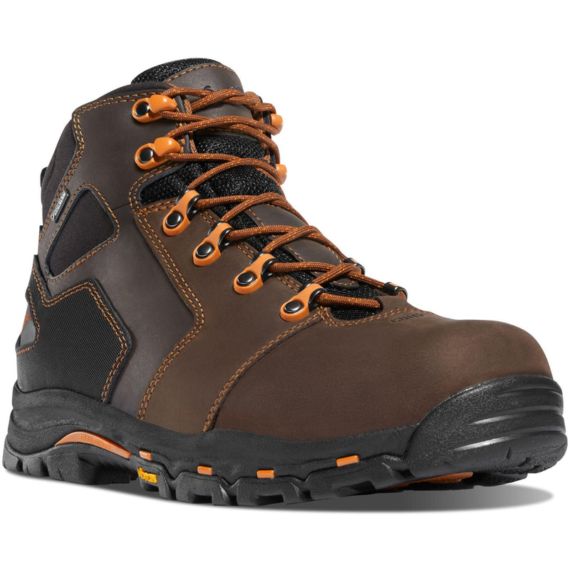 "Danner Men's Vicious 4.5"" Soft Toe WP Work Boot - Brown - 13858 7 / Medium / Brown - Overlook Boots"