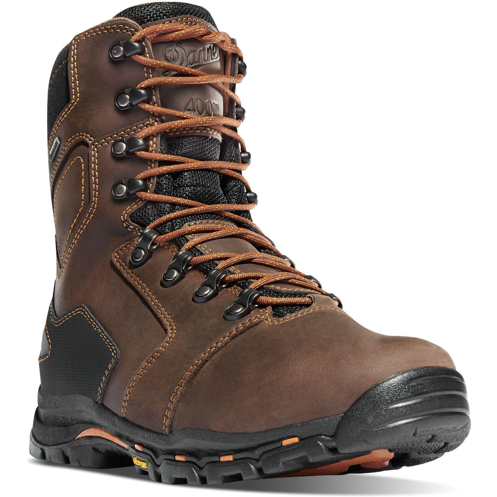 "Danner Men's Vicious 8"" Comp Toe Insulated WP Work Boot Brown - 13874 7 / Medium / Brown - Overlook Boots"