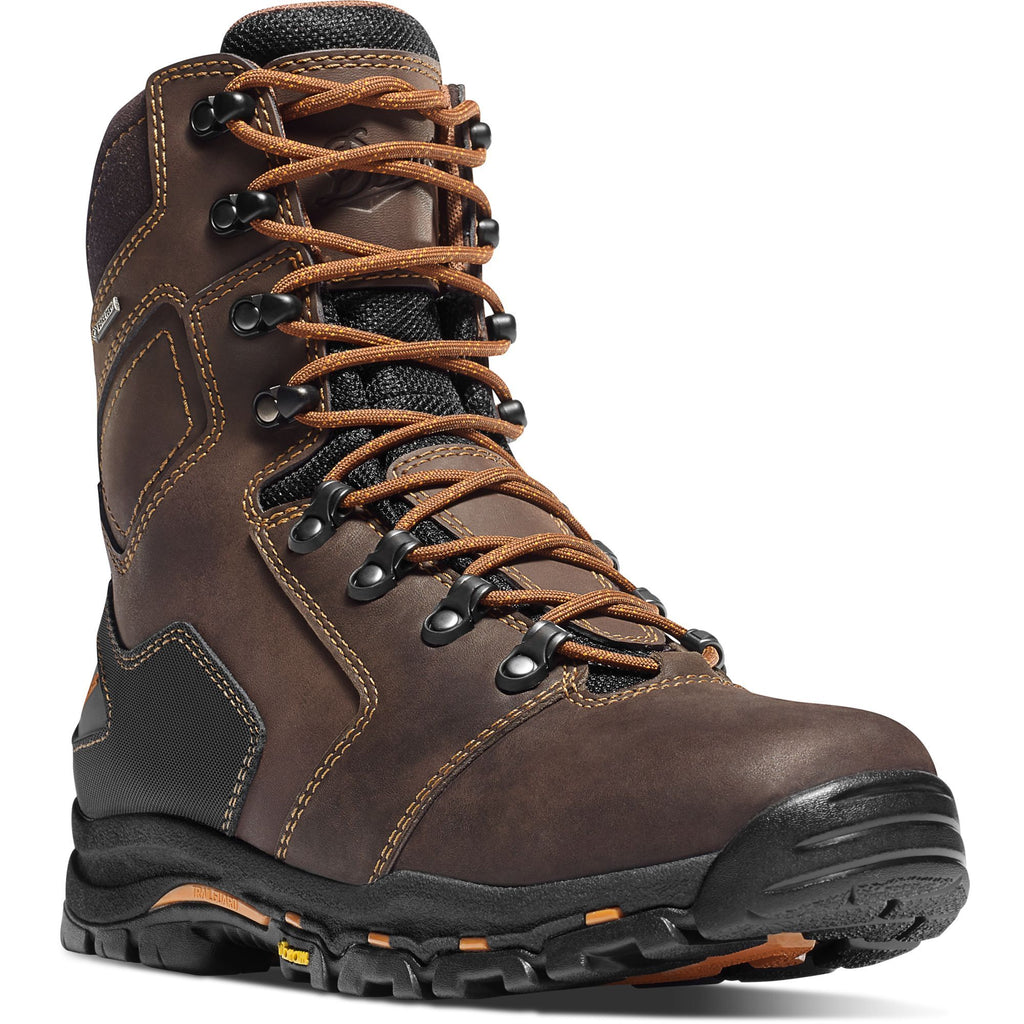 "Danner Men's Vicious 8"" Soft Toe WP Work Boot - Brown - 13866 7 / Medium / Brown - Overlook Boots"