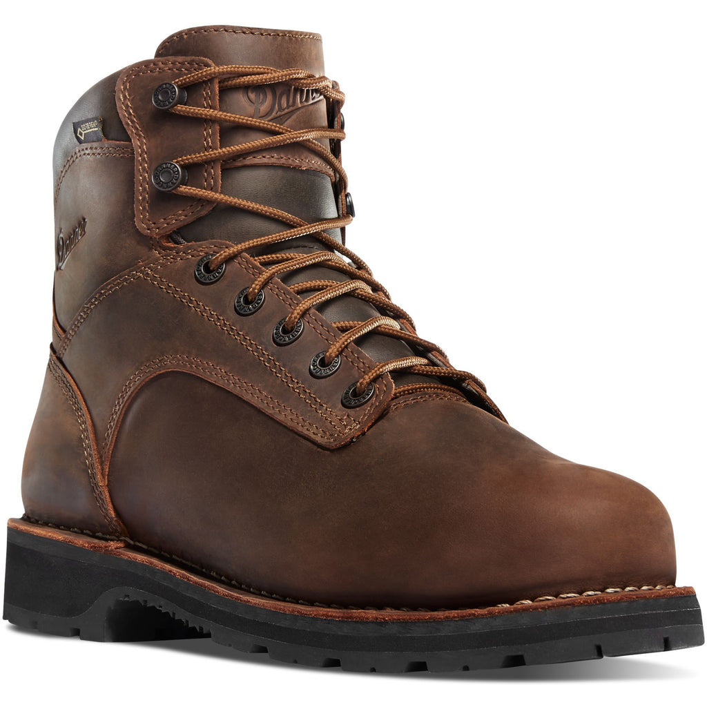 "Danner Men's Workman 6"" Soft Toe Work Boot - Brown - 16281 7 / Medium / Brown - Overlook Boots"