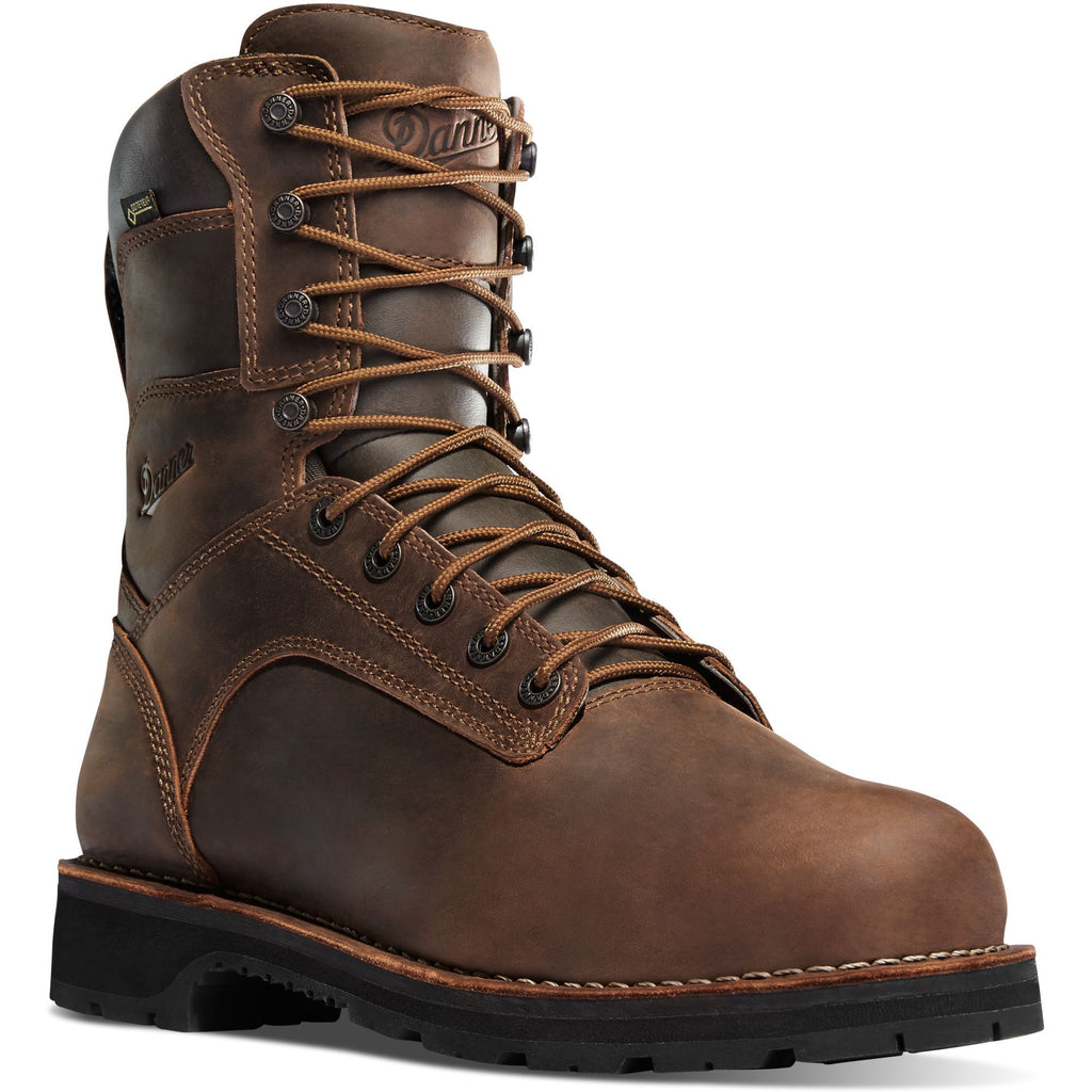 "Danner Men's Workman 8"" Soft Toe WP Work Boot - Brown - 16285 7 / Medium / Brown - Overlook Boots"