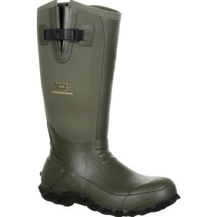 "Georgia Men's 16"" Waterproof Rubber Boot - Olive - GB00230  - Overlook Boots"