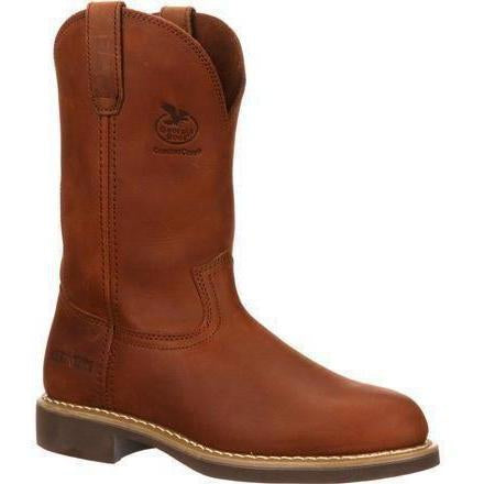 Georgia Men's Carbo Tec Wellington Work Boot - Brown - G5814 7.5 / Medium / Brown - Overlook Boots