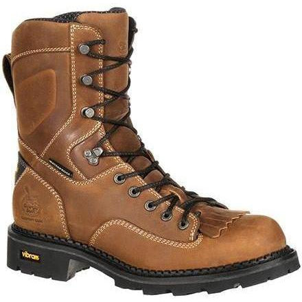 "Georgia Men's Comfort Core 8"" Low Heel Logger Work Boot Brown GB00122 8 / Medium / Brown - Overlook Boots"