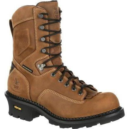 "Georgia Men's Comfort Core 9"" Comp Toe Logger Work Boot Brown GB00097 8 / Medium / Brown - Overlook Boots"