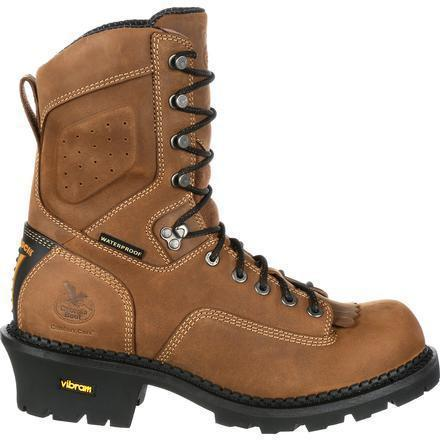"Georgia Men's Comfort Core 9"" Logger Work Boot Brown GB00096 8 / Medium / Brown - Overlook Boots"