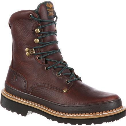 "Georgia Men's Giant 8"" Steel Toe Work Boot - Brown - G8374 7.5 / Medium / Brown - Overlook Boots"