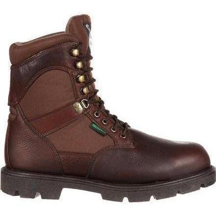 "Georgia Men's Homeland 8"" WP Insulated Work Boot - Brown - G109 8 / Medium / Brown - Overlook Boots"