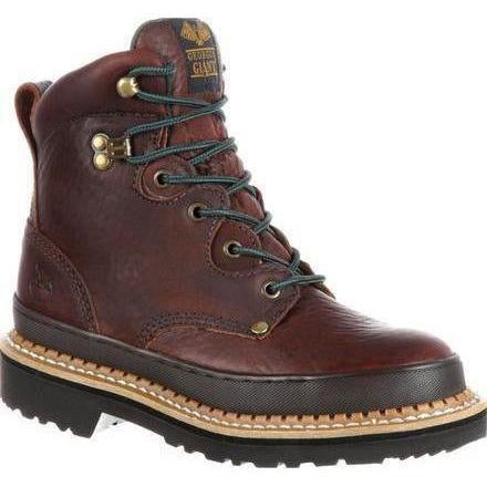 "Georgia Women's Giant 6"" Steel Toe Work Boot - Brown - G3374 5.5 / Medium / Brown - Overlook Boots"
