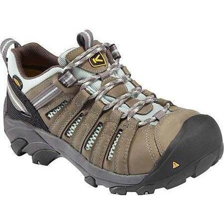 KEEN Utility Women's Flint Low Work Shoe - Drizzel/Suft Spray 1008823 5.5 / Medium / Gray - Overlook Boots