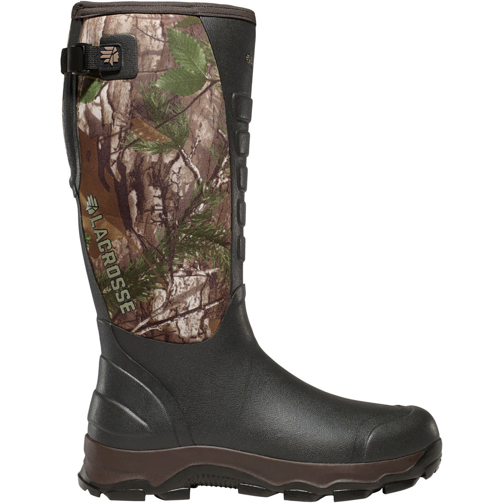 "LaCrosse Men's 4xAlpha 16"" Ins Rubber Hunt Boot Realtree Xtra- 376101 7 / Realtree Xtra - Overlook Boots"