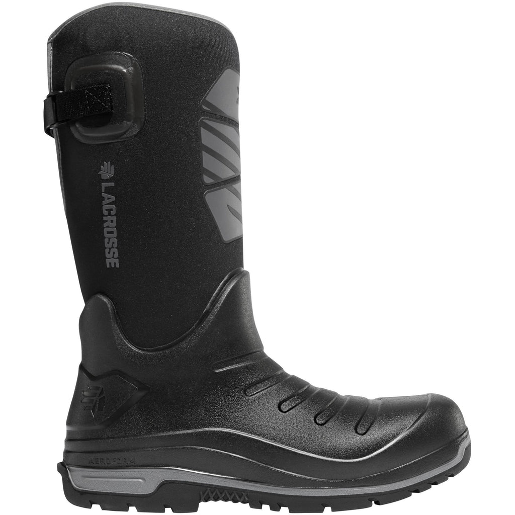 "LaCrosse Men's Aero Insulator 14"" CT Rubber Work Boot - Black - 664554 7 / Black - Overlook Boots"
