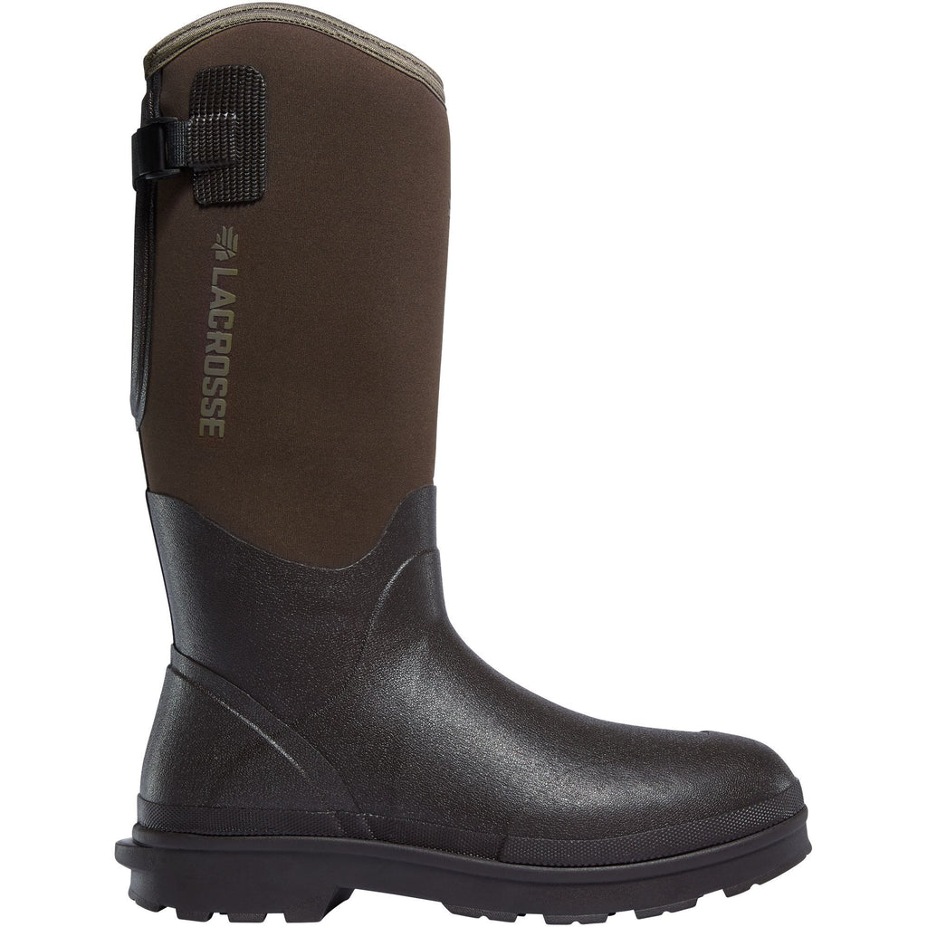 "LaCrosse Men's Alpha Range 14"" Ins Rubber Work Boot - Brown - 602248 7 / Brown - Overlook Boots"