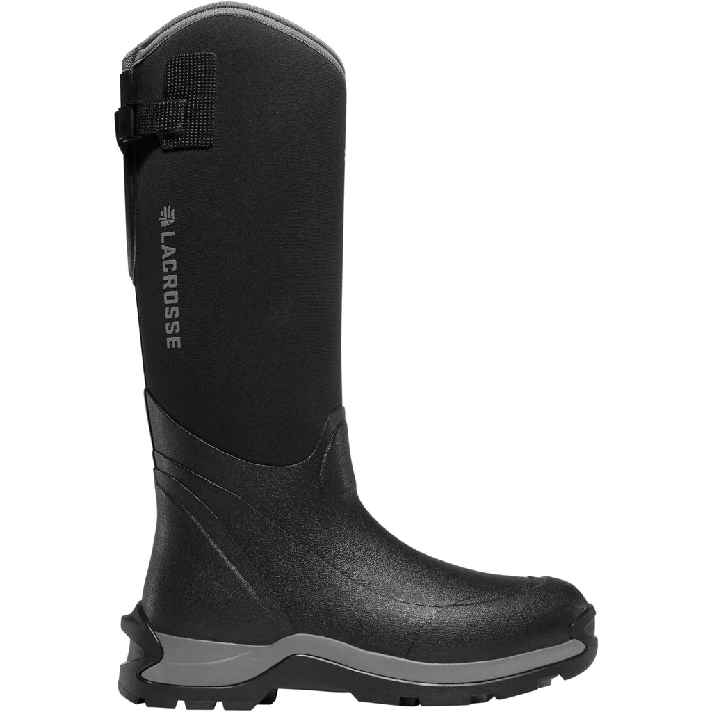 "LaCrosse Men's Alpha Thermal 16"" CT Ins Rubber Work Boot Black 644103 7 / Black - Overlook Boots"