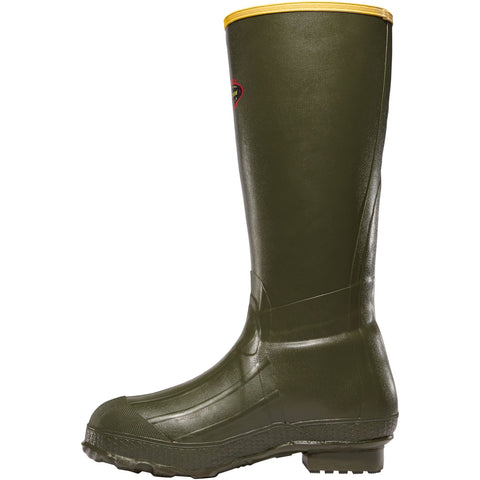 "LaCrosse Men's Burly Classic 18"" OD Rubber Work Boot - Green - 266040  - Overlook Boots"