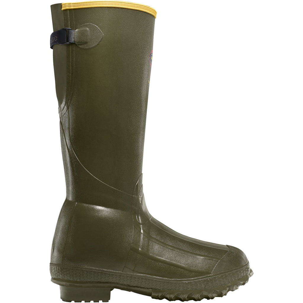 "LaCrosse Men's Burly Trac-Lite 18"" Ins Rubber Work Boot Green 266060 7 / Green - Overlook Boots"