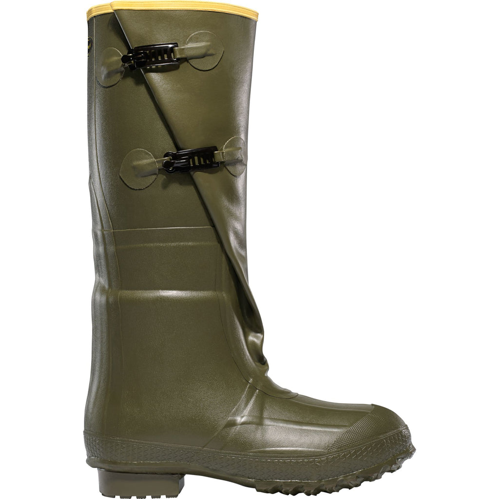 "LaCrosse Men's Insulated 2-Buckle 18"" Rubber Work Boot Green - 267040 7 / Green - Overlook Boots"