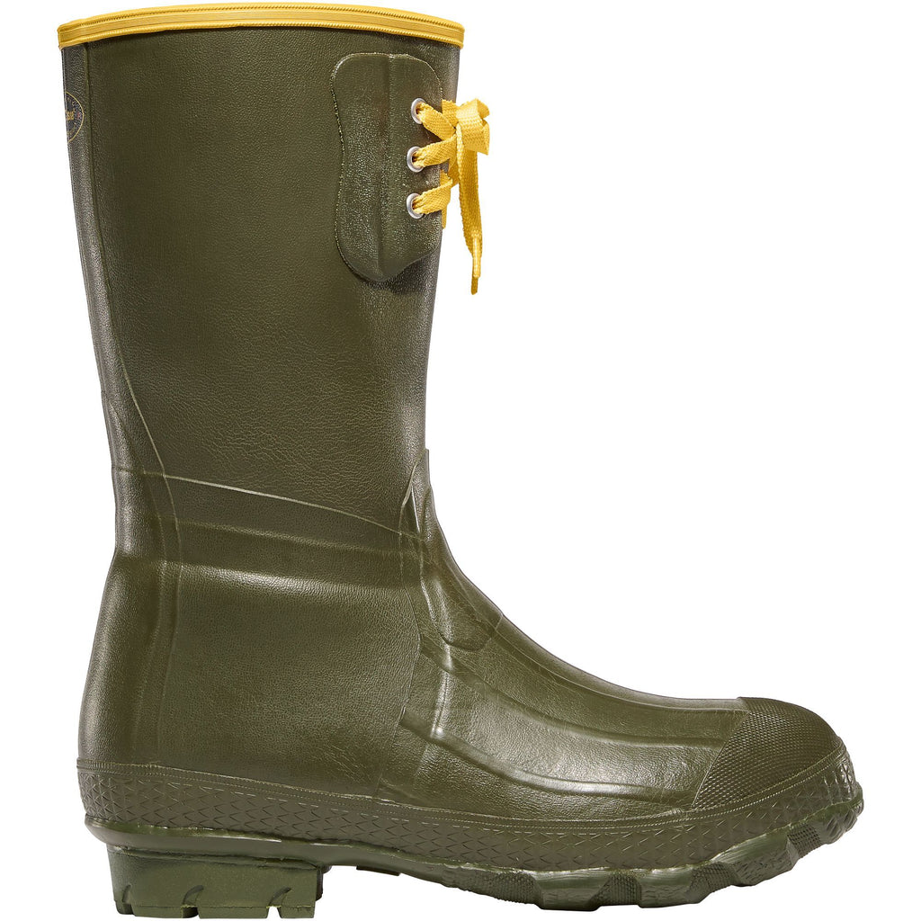 "LaCrosse Men's Insulated Pac 12"" Rubber Work Boot - Green - 260040 7 / Green - Overlook Boots"