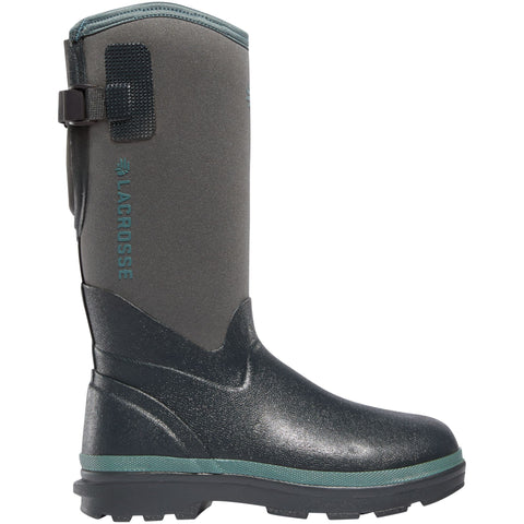 "LaCrosse Women's Alpha Range 12"" Ins Rubber Work Boot - Gray - 602243  - Overlook Boots"