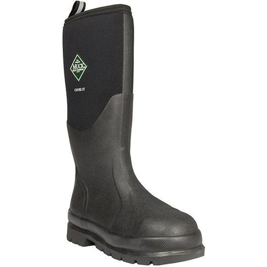 "Muck Men's Chore 16"" Steel Toe Waterproof Work Boot - Black - CHS-000A 5 / Medium / Black - Overlook Boots"