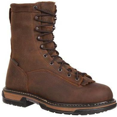 "Rocky Men's Ironclad 8"" Steel Toe WP Work Boot - Brown - FQ0006698 8 / Medium / Brown - Overlook Boots"