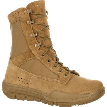 Rocky Men's Lightweight Commercial Military Boot - Tan - RKC042 7.5 / Medium / Tan - Overlook Boots