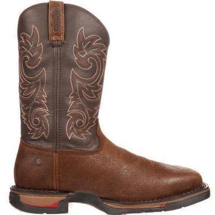 Rocky Men's Long Range Stl Toe WP Pull-on Western Boot Brown FQ0006654 8 / Medium / Coffee - Overlook Boots