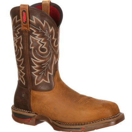 Rocky Men's Long Range WP Carbon Toe Pull-On Western Boot - FQ0006132 8 / Medium / Brown - Overlook Boots