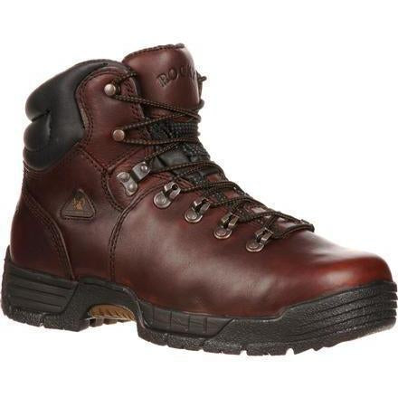 "Rocky Men's Mobilite 6"" Steel Toe WP Work Boot - Brown - FQ0006114 8 / Medium / Brown - Overlook Boots"