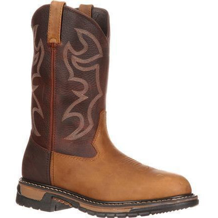 Rocky Men's Original Ride Branson Roper Western Boot Brown - FQ0002732 7.5 / Medium / Brown - Overlook Boots