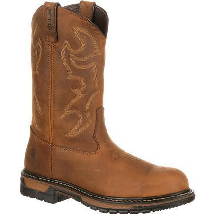 Rocky Men's Original Ride Branson WP Steel Toe Western Boot-FQ0002809 7.5 / Medium / Brown - Overlook Boots
