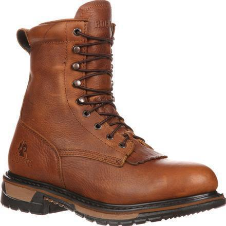 "Rocky Men's Original Ride Lacer 9"" WP Western Boot - Brown - FQ0002723 7.5 / Medium / Brown - Overlook Boots"